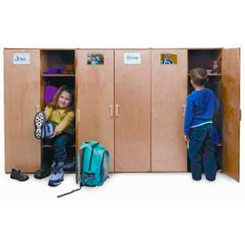 Wood Preschool Lockers with Doors