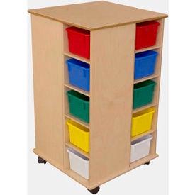 Mobile Cubby Tower Storage Units