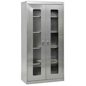 Sandusky Stainless Steel Clear View Cabinets