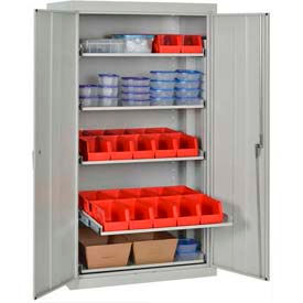 Sandusky Pull-Out Tray Shelf Cabinets - Assembled