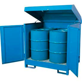 Outdoor Hazmat Drum Storage Stations