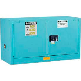 Justrite® ChemCor® Lined Safety Piggyback Acid Corrosive Acid Cabinets