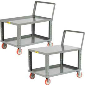 Little Giant® Ergonomic Low Deck Adjustable Height Shelf Trucks