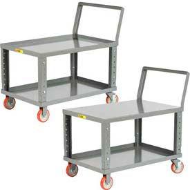 Little Giant® Ergonomic Adjustable Height Shelf Trucks