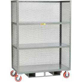 Little Giant® 3-Sided Mesh Panel Fixed Shelf Trucks -Forkliftable