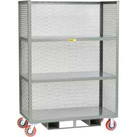 3-Sided Mesh Panel Fixed Shelf Trucks -Forkliftable
