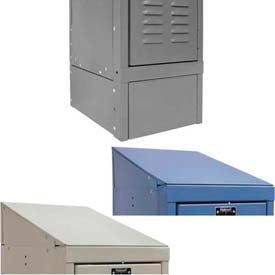 Hallowell Steel Lockers Accessories - Side Base and Slope Top