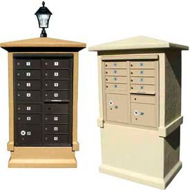 QualArc Decorative Stucco Cluster Box Unit (CBU) Mailbox Center (CBU not included)