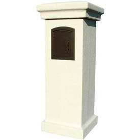 QualArc Manchester Stucco Locking Column Mailboxes