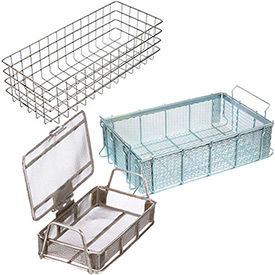 Marlin Steel Heavy Duty Stainless Steel and Steel Mesh Baskets