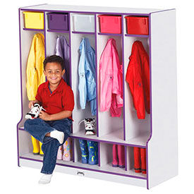 Laminated Preschool Lockers with Seats