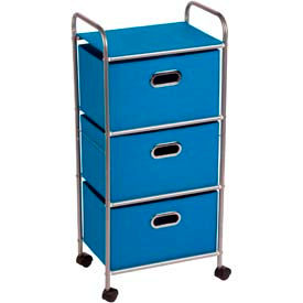 3 Fabric Drawer Rolling Carts