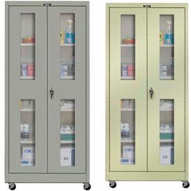 Hallowell Ventilated Door Mobile Storage Cabinets