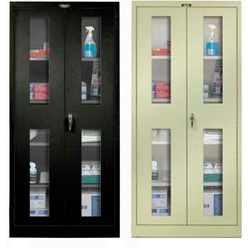 Hallowell Safety-View Door Storage Cabinets