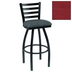 "4 Slat-Back Swivel Bar Stool 17-1/2""W X 16""D X 43""H Burgundy Package Count 2 by"