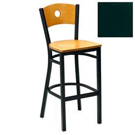 """Mahogany Circle-Back Bar Stool 17-1/2""""W X 17""""D X 42""""H - Hunter Green - Pkg Qty 2"""