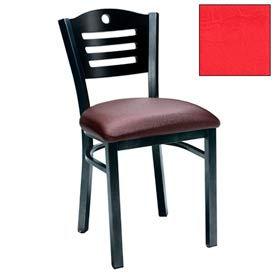 """Natural 3 Slat-Back Chair 17-1/2""""W X 17""""D X 32""""H - Red - Pkg Qty 2"""
