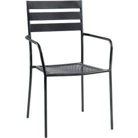 Outdoor Furniture U0026 Equipment   Outdoor Chairs   Premier Hospitality  Furniture Tremont Outdoor Metal Chair With Arms   Pkg Qty 4   B476667 ...