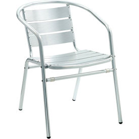 Premier Hospitality Furniture Luna Outdoor Aluminum Chair With Arms - Pkg Qty 4