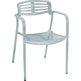 Premier Hospitality Furniture Aero Outdoor Aluminum Chair With Arms - Pkg Qty 4