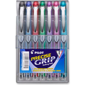 Pilot® Precise Grip Rolling Ball Pen, Extra Fine, 0.5mm, Assorted Ink, 7/Pack