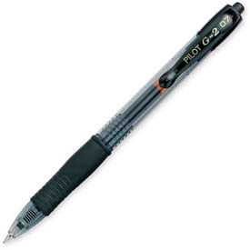 Pilot® G2 Gel Retractable Rollerball Pen, Fine, 0.7mm, Black Ink, Dozen