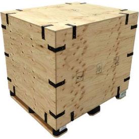 "SURE-LOK® Fir Plywood Premium Grade Crate premium57-34-23 Collapsible, Inside 57""L x 34""W x 23"""