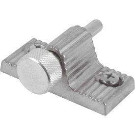 Primeline Products U 9848 Sliding Door Lock, Twist-In, Aluminum Finish