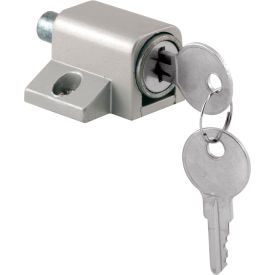 Prime-Line® Sliding Door Keyed Lock, Push-In, Aluminum Finish, U 9861