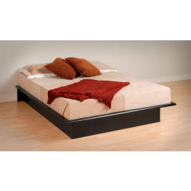 Prepac Manufacturing Black Queen Platform Bed