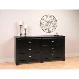 Prepac Manufacturing Black Kallisto 6 Drawer Dresser
