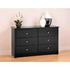 Prepac Manufacturing Black Sonoma Children's 6 Drawer Dresser