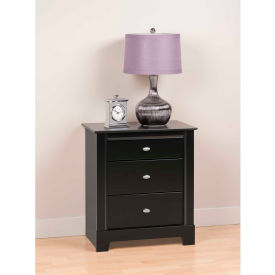 Prepac Manufacturing Black Kallisto 3 Drawer Nightstand