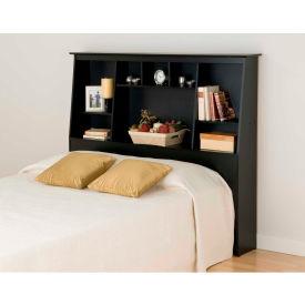 Prepac Manufacturing Black Full/Queen Tall Slant-Back Bookcase Headboard