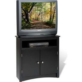 Prepac Manufacturing Black Tall Corner TV Cabinet