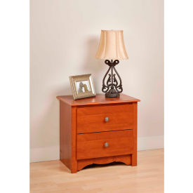 Prepac Manufacturing Cherry Monterey 2 Drawer Nightstand