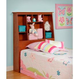 Prepac Manufacturing Cherry Twin Tall Slant-Back Bookcase Headboard