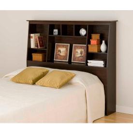 Prepac Manufacturing Espresso Full/Queen Tall Slant-Back Bookcase Headboard