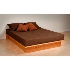 Prepac Manufacturing Oak Queen Platform Bed