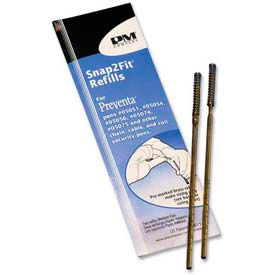 PM Preventa Aluminum Counter Pen Refill, Medium, Blue Ink, 2/Pack by