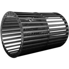 "Double Inlet Blower Wheel, 5-1/4"" Dia., CW, 3450 RPM, 1/2"" Bore, 5-7/8""W, Aluminum"