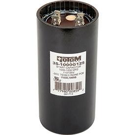 Rotom 1000B, 1000-1200MFD, 110/125V, Start Capacitor, Round