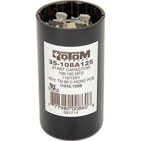 Rotom 108B, 108-130MFD, 110/125V, Start Capacitor, Round
