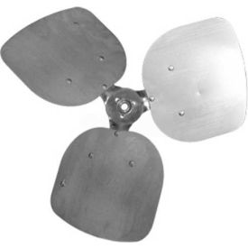 """Three Wing Condenser Fan Blade, 1/2"""" Fixed Hub, Aluminum Blade, 20"""" Dia., CW, 33° Pitch by"""