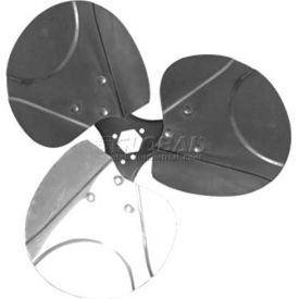 "Three Wing Free Air Fan Blade, 1/2"" Interchangeable Hub, Alum. Blade, CCW, 14"" Dia.,23° Pitch"