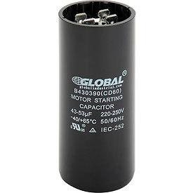 Global Industrial™ B430390, 43-53 +/- 5% MFD, 220/250V, Start Capacitor, Round