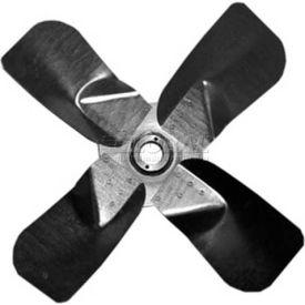 """Heavy Duty Four Wing Fan Blade, Galvanized Steel Props, 48"""" Dia.,CW, 27° Pitch"""
