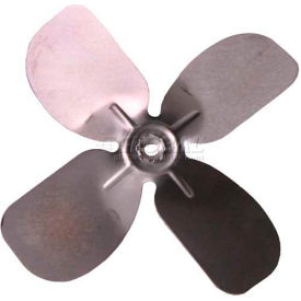 "Small Fixed Hub Fan Blade, 6-1/2"" Dia., 27° Pitch, CCW, 1/4"" Bore, 13/16"" Blade Dep., 4 Blade"