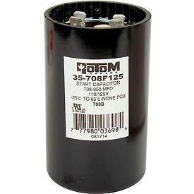 Rotom 708B, 708-850MFD, 110/125V, Start Capacitor, Round