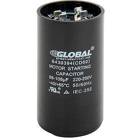 Global Industrial™ B430394, 88-108 +/- 5% MFD, 220/250V, Start Capacitor, Round